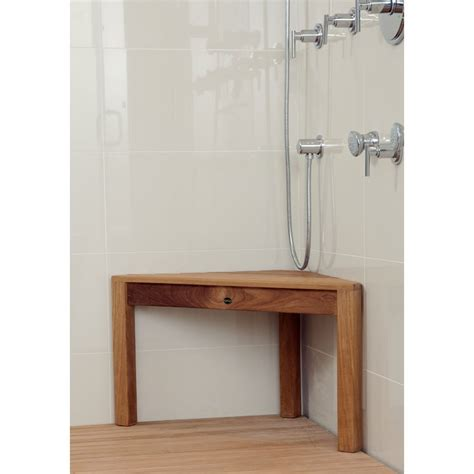 teak shower corner bench chic teak corner shower bench the homy design