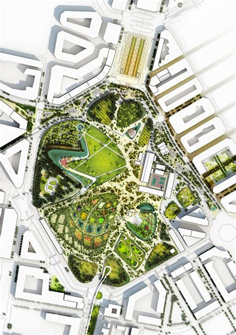 design competition central park valencia parque central proposal by west 8 urban design