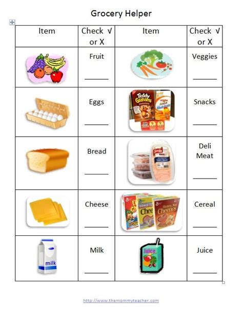 printable toddler grocery list 17 best images about organize printables on pinterest