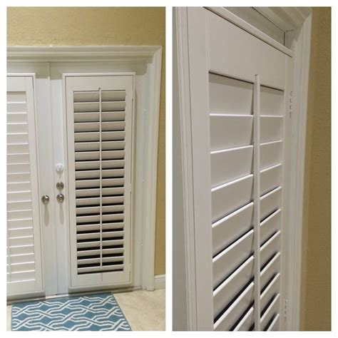 Accordian Blinds white polywood plantation shutters on french doors yelp