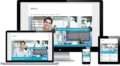 theme wordpress video responsive attitude free responsive wordpress business theme