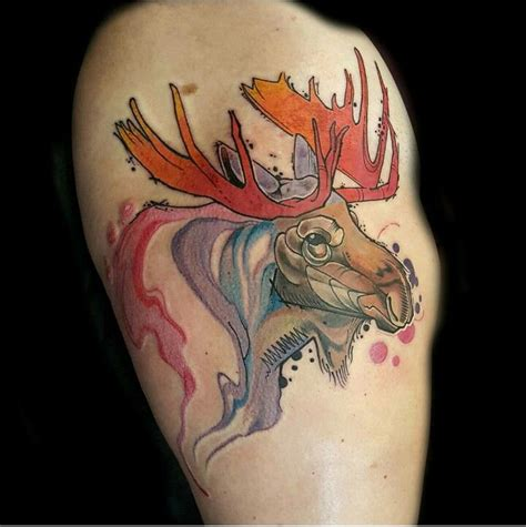 small moose tattoo here s a funky moose ink i moose tattoos