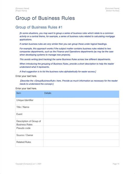 19 business rule template business process design