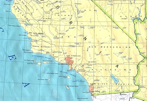 map southern california southern california base map