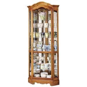 Curio Cabinet Corner Oak Howard Miller Oak Corner Curio Cabinet Mirror Back 680250