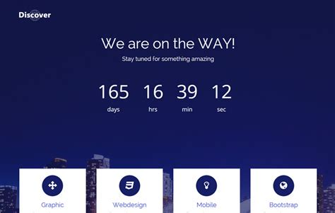 latest free bootstrap coming soon template by webthemez