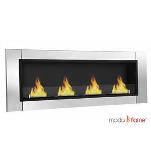 moda devant ventless bio ethanol wall mounted fireplace