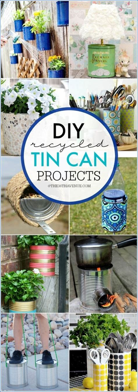 diy crafts with tin cans tin can hacks and diy ideas craft organization diy ideas and recycled tin cans