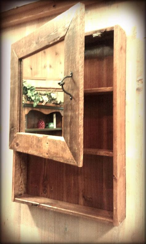 rustic medicine cabinets for the bathroom rustic barn wood medicine cabinet w mirror by