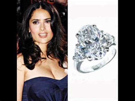 Salma Hayek Is And Engaged by Salma Hayek Engagement Ring