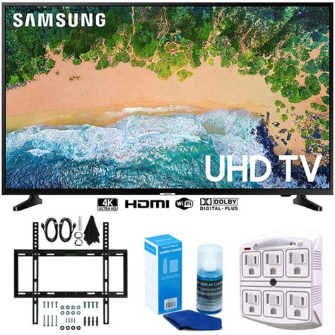 samsung un43nu6900 43 quot nu6900 smart 4k uhd tv 2018 w wall mount bundle buydig