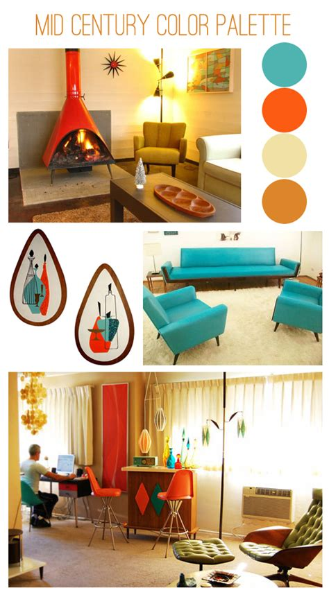 mid century modern color schemes oh so lovely vintage mid century color inspiration