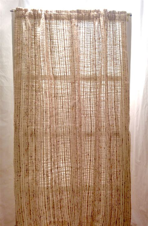 open weave drapes reserved earth tones open weave curtains mid century mod