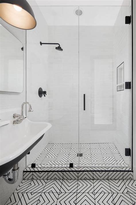 geometric black and white floor tiles black and white geometric bathroom backsplash tiles design