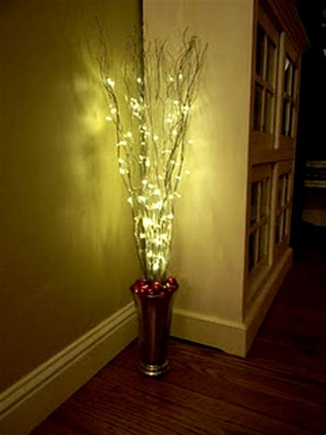 diy light decorations indoor get some branches or twigs put it on a container