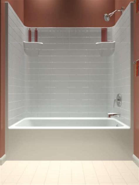 one piece shower bathtub units tub and shower one piece