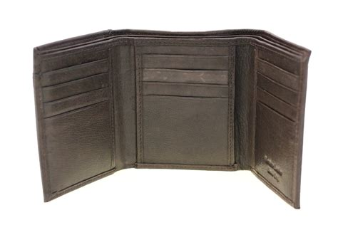 pull out leather s trifold wallet pull out id cover genuine leather 2