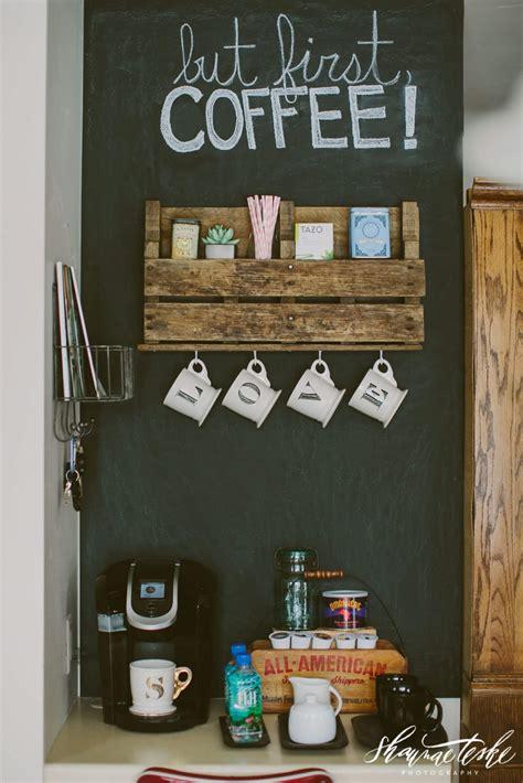 mind blowing diy coffee bar ideas  organization