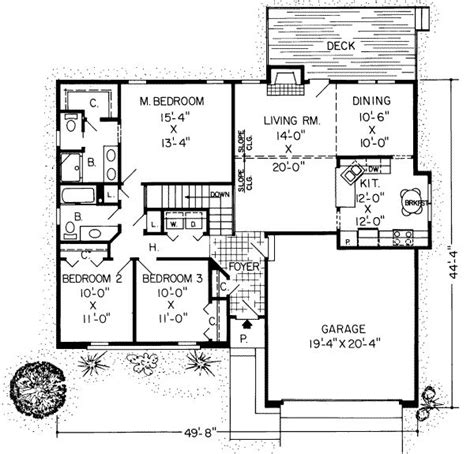 1500 square foot floor plans 1500 square 3 bedrooms 2 batrooms 2 parking space on 1 levels house plan 16808 all
