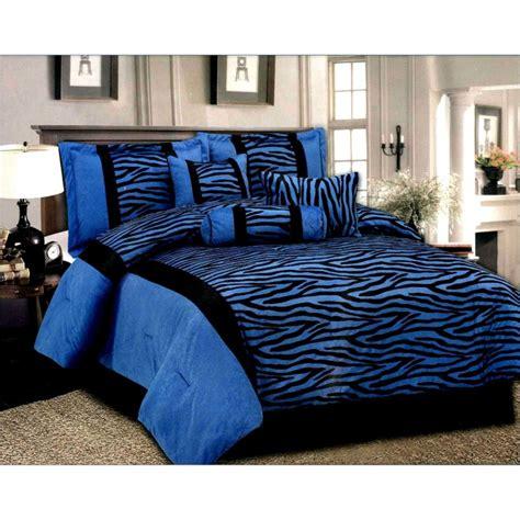 queen blackblue  pcs luxury micro fur zebra pattern bed