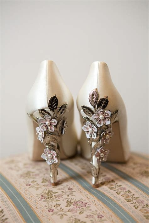 Wedding Shoes With Flowers by Harriet Wilde Exquisite Co Ordinating Floral Hair