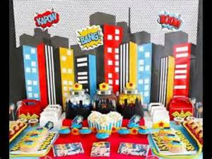 Diy Boy Room Decor Superhero Party Decorating Ideas Youtube