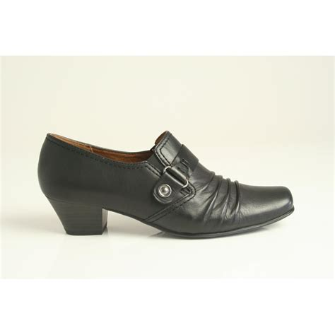 caprice high cut shoe in high grade black leather 9 24308