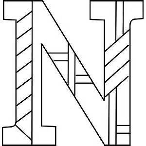 n color uppercase n coloring page