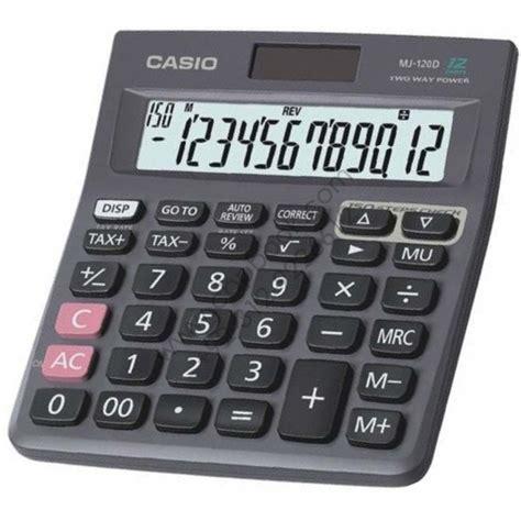 Murah Ori Casio Mj 120d Check Correct Kalkulator casio mj 120d basic 12 digit calculator original