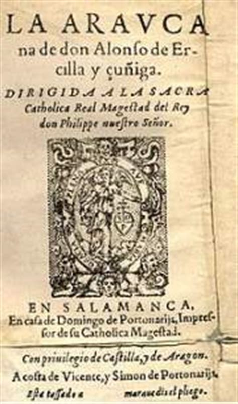 leer libro de texto la araucana letras latinoamericanas en linea literatura hispanoamericana ecured