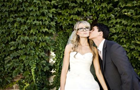 Wedding Hairstyles Glasses by Brides With Glasses Who Are Not Wearing Contacts On The
