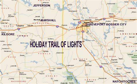 piney woods texas map piney woods region trail of lights map