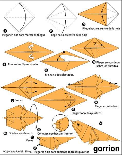 How To Make An Origami Sparrow - origami sparrow