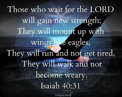 isaiah 40 31 lord jesus saves