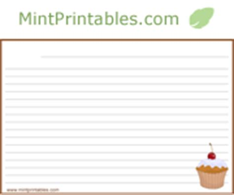 printable dessert recipe cards free printable recipe cards for desserts 4x6 and 2x5