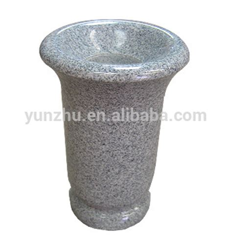 granite flower vase for gravestone headstones tombstones