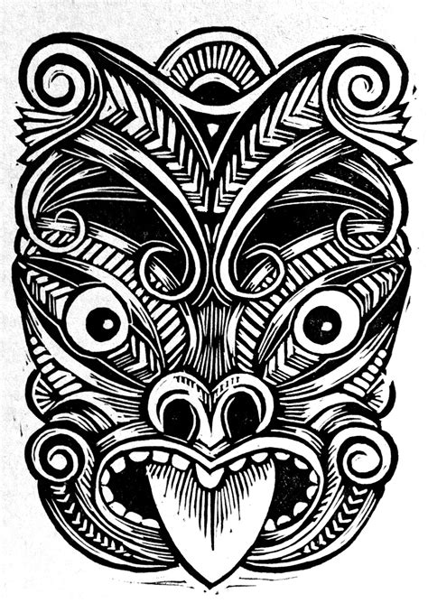 new zealand tribal tattoo designs maori mask linocuts linoleogravuras m 225 scaras