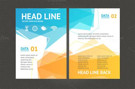 23 geometric flyer templates free psd eps ai
