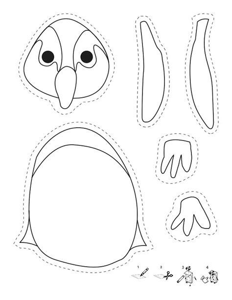african penguin coloring page penguin craft pattern www imgkid com the image kid has it