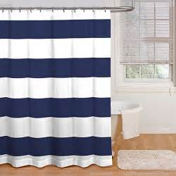 Navy Striped Curtains Buy Cabana Stripe 72 Inch X 72 Inch Shower Curtain In Navy White From Bed Bath Beyond