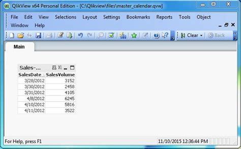 qlikview complete tutorial qlikview master calendar