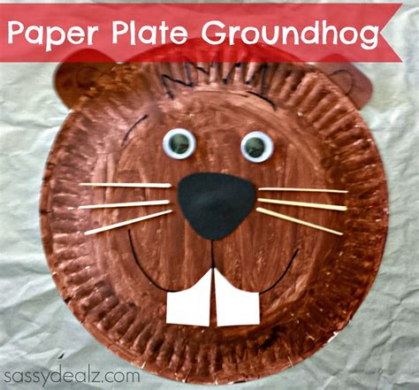 plate craft groundhog paper plate craft for crafty morning