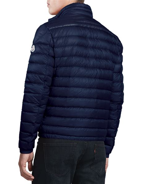 Jacket Navy lyst moncler daniel lightweight puffer jacket navy in blue for