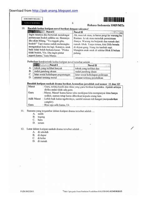 naskah soal un bahasa inggris smp 2013 paket 1 naskah soal un bahasa indonesia smp 2013 paket 1