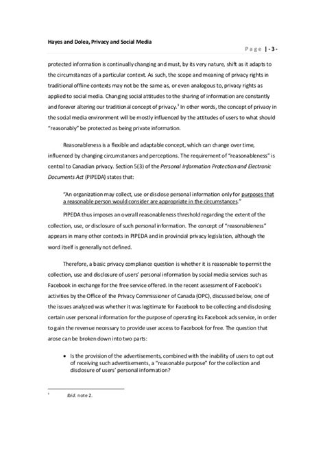 thesis on social media privacy hayes privacy and social media paper october 29 2010