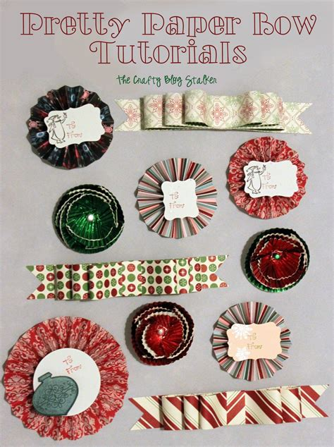How To Make Paper Bows For Presents - pretty paper bow tutorials the crafty stalker