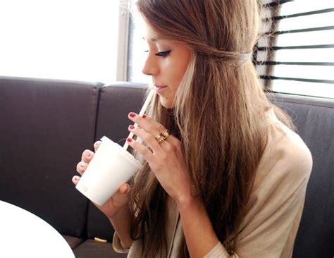 brown cup drink hair image 177482 on favim com