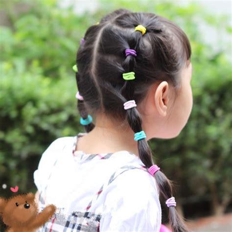 ponytail after 60 100pcs hair accessories headbands scrunchy girls headwear