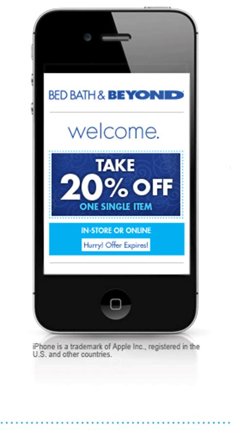 bed bath and beyond mailing list bed bath and beyond get a 20 off in store or online offer for joining our mobile