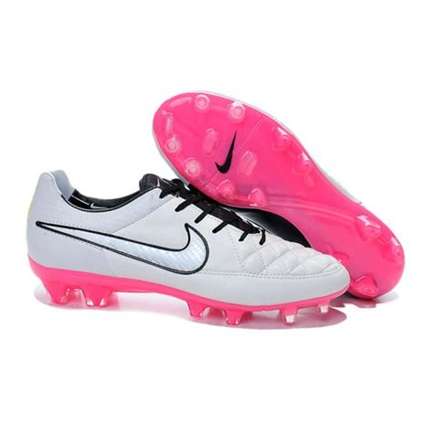 pink football shoes nike tiempo legend v fg firm ground football boots white